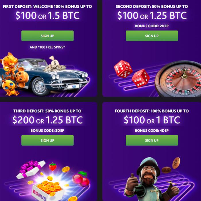 7bitCasino 100% Welcome Bonus up to 5BTC and 100 free spins