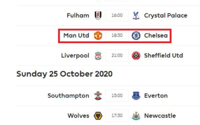 EPL Predictions [Matchday 6, October 23/24/25/26]