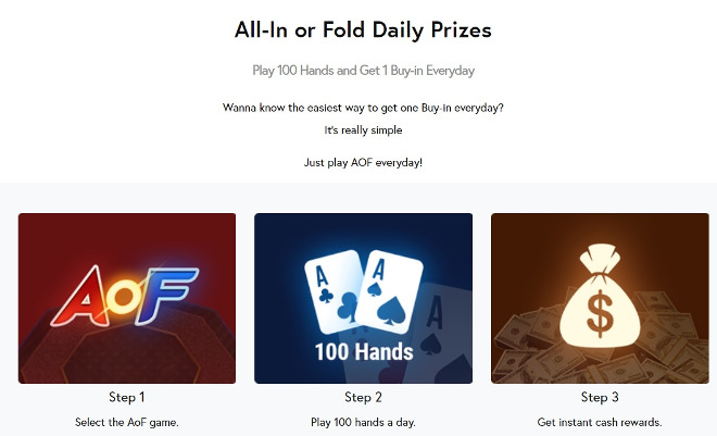 GGPoker All-in or Fold Daily Prizes
