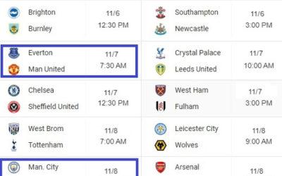 EPL Predictions Matchday 8 ⚽ November 6/7/8