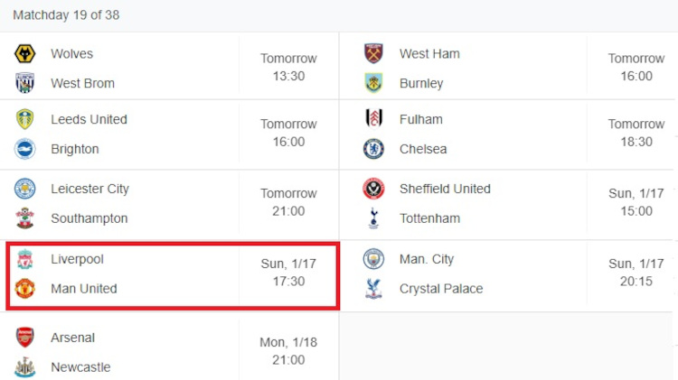 Premier League Prediction Matchday 19