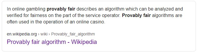Provably Fair Definition on Wikipedia