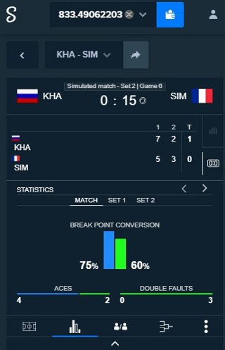 Stake Live Betting Stats