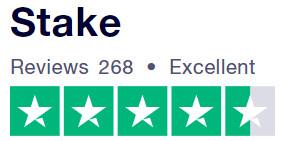 Stake.com Excellent 268 Reviews