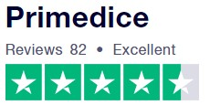 Trustpilot.com gives 4.5 stars to PrimeDice (based on 78 reviews)