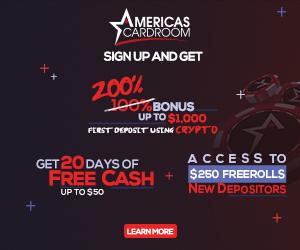 Americas Cardroom Bitcoin & Crypto Bonus