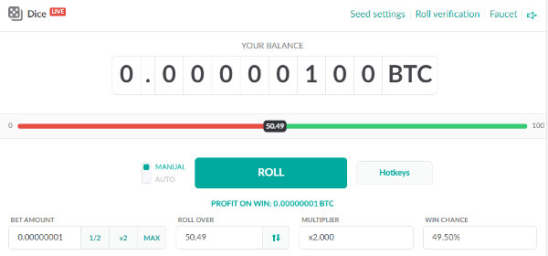 Onehash Dice Game