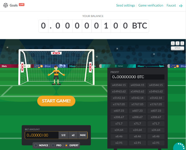 Onehash Goals Game